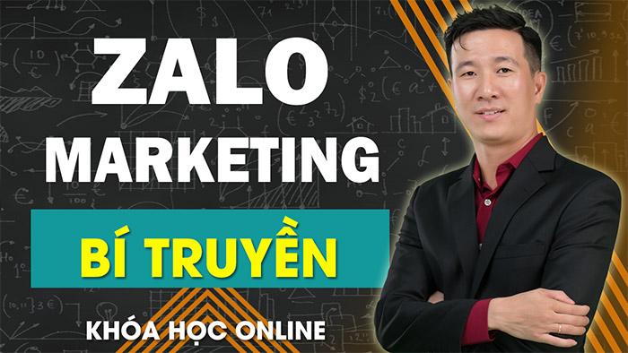 Khóa học Zalo marketing bí truyền
